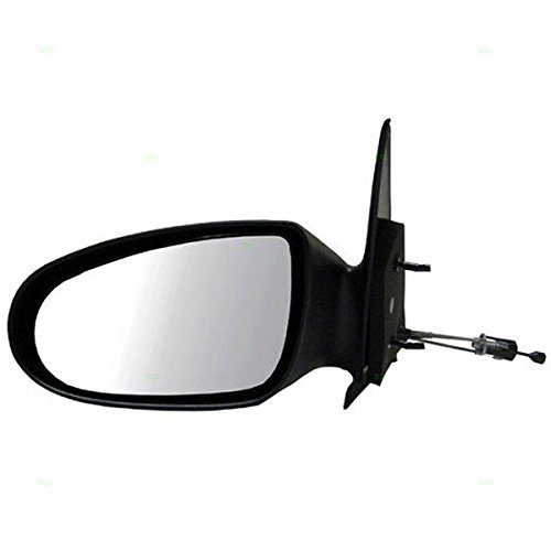(Koolzap For 95-99 Neon Manual Remote Non-Folding Black Rear View Mirror Left Driver Side NEW)