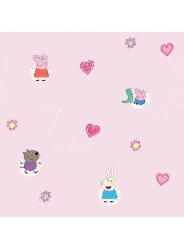 Buy Fine Decor Peppa Pig Official Childrens Kids Wallpaper Pink .