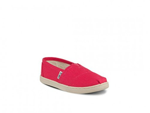 Toms - Youth Slip-On Classic Shoes In Fuschia (4.5)
