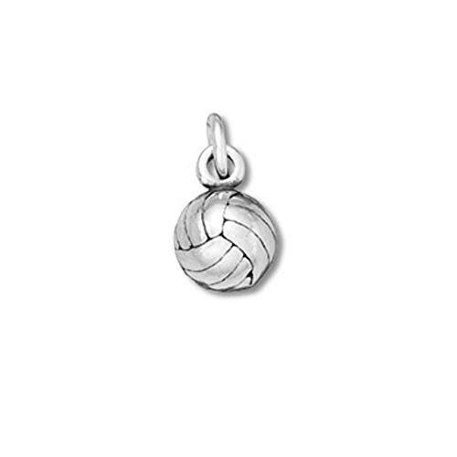 Sterling Silver 3D Solid Volleyball Charm Item #36228 3d Volleyball Charm