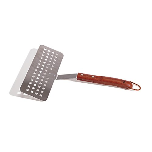 Outset QB59 Rosewood Collection Slotted Fish Spatula, Stainless Steel