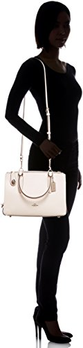 28 COACH Womens Sv Pebbled Carryall Chalk Brooklyn tT6S4xwqT