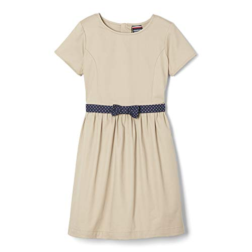 French Toast Girls' Little Fit & Flare Dress, Khaki, 5