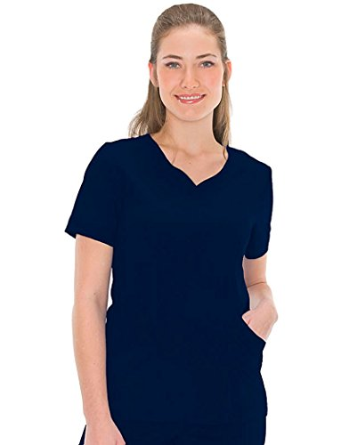 - Urbane Ultimate Women's Sweetheart Neck Solid Scrub Top XXXX-Large Navy
