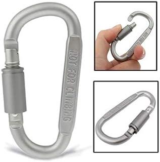 WARM home Creativo Aleación de Aluminio Duro Conveniente Big D Camp Snap Clip Gancho Llavero Multifuncional YYZM