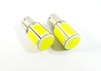 LEDIN 2x COB LED Rear Turn Signal Light 18W High Power 1156 7506 P21W BA15s Bulb (Signal Turn Light Gl)