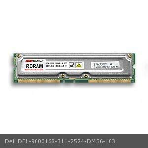 DMS Compatible/Replacement for Dell 311-2524 OptiPlex GX200 667 256MB DMS Certified Memory ECC 800MHz PC800 184 Pin RIMMs (RDRAM) - DMS