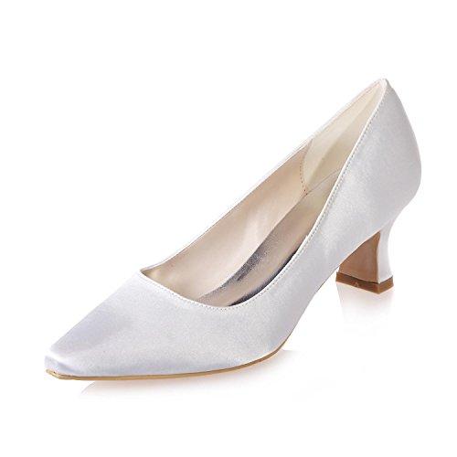 Mujeres Punta Las Fiesta 01 yc Más Boda Y L Zapatos White Colores 0723 Profesionales Disfraces De Seda En Disponibles OqfnX