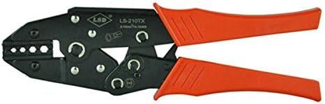 ケーブルカッター 圧着ペンチ 2〜10mm² 六角型ラチェット 非絶縁端子 圧着工具 手動ケーブルカッター