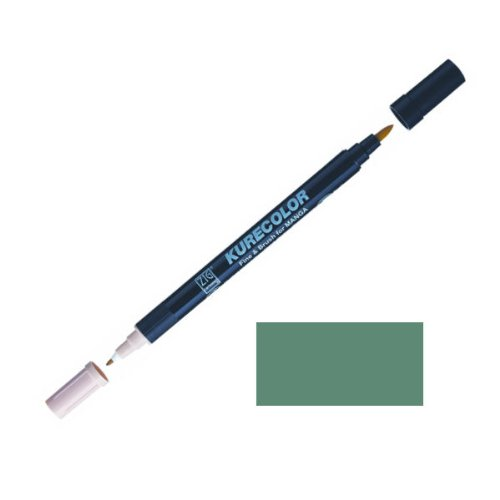 Zig-Kurecolor-Manga-Cartoonist-Fine-Brush-Dual-Tip-Marker-Deep-Green