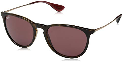 Ray-Ban RB4171 Erika Round Sunglasses, Tortoise/Dark Pink, 54 mm (Pink Ray Ban Aviators)