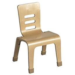 Wood Classroom Chair [Set of 2] Seat Color: Natural, Seat Height: 16\