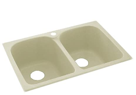 Swanstone KSLB 3322 037 33 Inch By 22 Inch Super Double Bowl