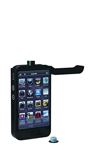 Truefabrications Smartphone Flask, 4 Oz, Black