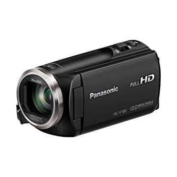 Panasonic HC-V180K Full HD Camcorder with 50x Stabilized Optical Zoom (Black)