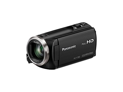 Panasonic Full HD Camcorder HC-V180K, 50X Optical Zoom, 1/5.8-Inch BSI Sensor, Touch Enabled 2.7-Inch LCD Display (Best Professional Camcorders)