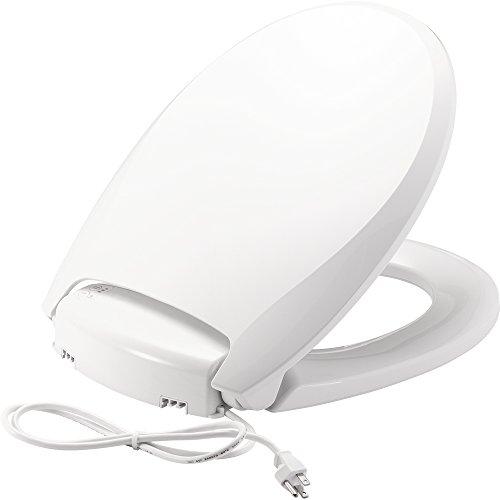 Bemis H900NL 000 Radiance Round Heated Night Light Toilet Seat, White