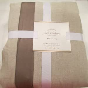 Amazon Com Pottery Barn Linen With Silk Trim Duvet Cover