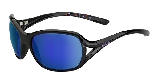 Bolle Women's Solden Sunglasses, Blue Violet, Shiny (Bolle Wrap Around Sunglasses)