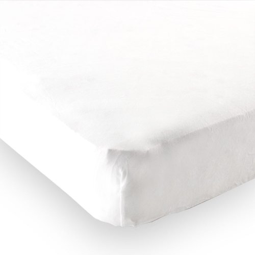 Luvable Friends Fitted Portable Crib Sheet, White