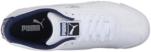 Puma Heren Roma Basic Fashion Sneaker Puma Wit-blauw Diepten