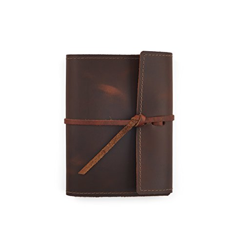 Burgundy Refillable (Rustico Small Refillable Leather Notebook For Writing, Note-taking, or Journaling. Handmade in the USA with premium top grain leather.)