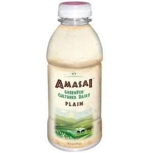 AMASAI Plain Whole Milk & GreenFed (6, 16 oz. each) by Bryond Organic