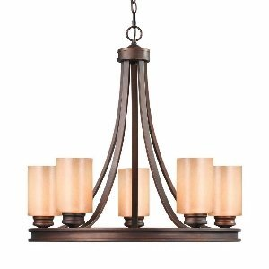 Golden Lighting 1051-5 SBZ Hidalgo 5 Light Chandelier, Sovereign Bronze Finish - Bronze Finish 5 Light Chandelier