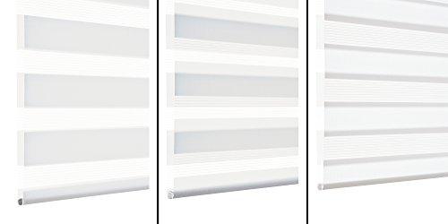 Estor Doble con Pinzas 45 x 150 cm Deco Company Tela Wei/ß