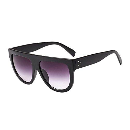 flat Scudo Per Donne Retrò Unisex Occhiali 2 Top Uv400 Sole Uomini Tartaruga Sunglasses Stile Da Protezione Oversize Vintage E Style Color Gli Hzjundasi Nerd 2IWE9eHYD