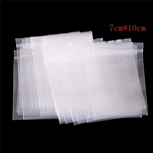 Storage Bags - 100pcs Packaging Bags Ziplock Zip Zipped Lock Reclosable Plastic Thick Transparent Small Poly Bag - Christmas Ziploc Quilt Breastmilk Nylon Eagle Food Milk Electric Glad Proof Sp
