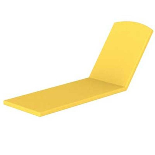POLYWOOD Outdoor Furniture Nautical Stackable Chaise Lounge with Arms, Full Cushion, Sunflower Yellow Sunbrella