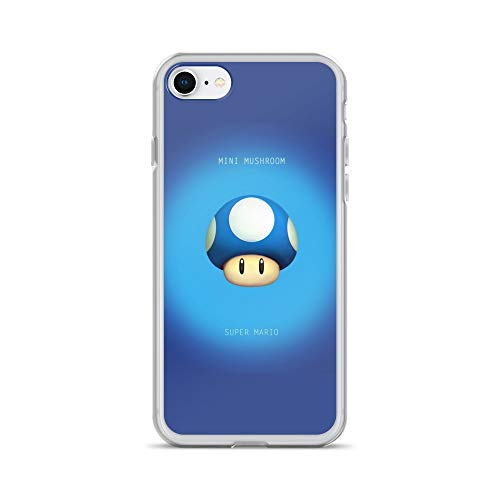 - iPhone 7/8 Case Anti-Scratch Gamer Video Game Transparent Cases Cover Mini Mushroom Minimal Gaming Computer Crystal Clear