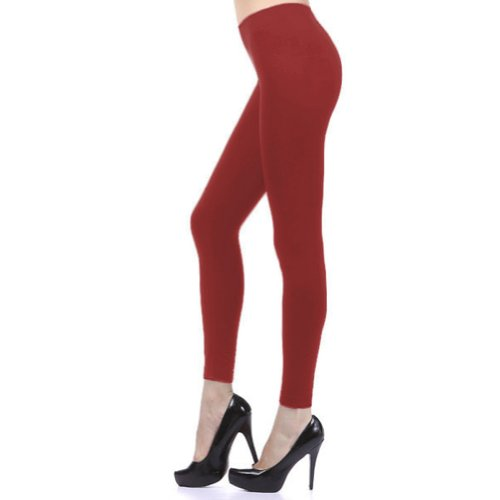 D&K Monarchy Seamless Full Length Footless Tights Red Large Extra Large