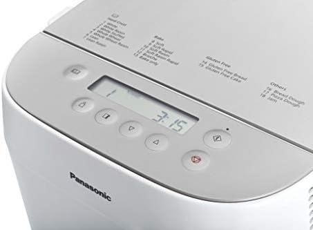 Panasonic Machine à Pain Croustina SD-ZP2000, 18 Programmes (7 Programmes Pains Croustillants, Programmes sans Gluten, Brioche, Pâtes, Confiture, 2 tailles de Pains L, M) - Version française - Blanche