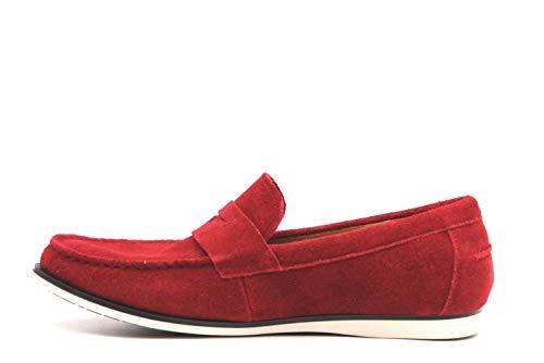 Alfani Mens Sawyer Leather Closed Toe Penny Loafer, Red, Size 11.5 (Shoes Alfani Mens)