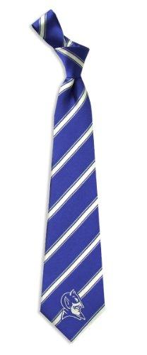Men's Blue Duke Blue Devils Collegiate Woven Polyester Necktie Tie (Blue Neckwear)