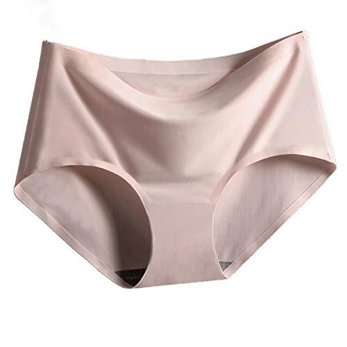 Underwear Women Seamless Female Underpants Mid-Waist Ice Silk Sexy Panties Women Pants,Coffee,XL (Best Price Coffee Machines Australia)