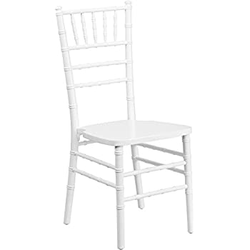 Elegant Flash Furniture HERCULES Series White Wood Chiavari Chair