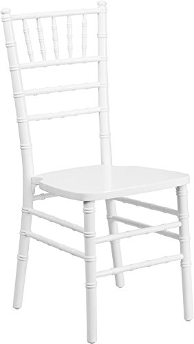 Flash Furniture HERCULES Series White Wood Chiavari Chair