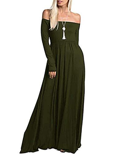 ACHIOOWA Zomerjurk voor dames, sexy, V-hals, maxi-jurk, gestippeld, strandjurk voor zomer met hoge split