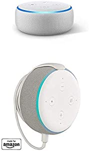 "Echo Dot (3rd Gen) bundle with""Made for Amazon"" Mount for Echo Dot - Sandstone"