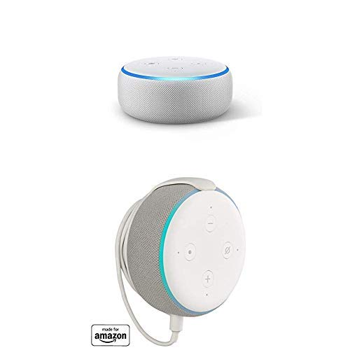 """Echo Dot (3rd Gen) bundle with""""Made for Amazon"""" Mount for Echo Dot - Sandstone"""