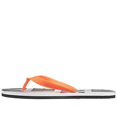 Reebok Damen Cash Flip Flops Rojo / Negro / Blanco (Atomic Red / Black / White)