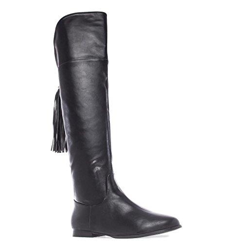 Andres Machado Damen Overknee Stiefel - Schwarz Schuhe in Übergrößen