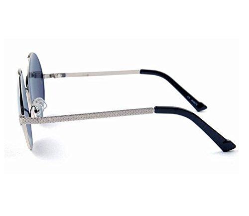 del Rosa Marco vendimia clásico Hippie Oro sol de redondo flecha polarizado de de la de de metal del clásico gafas las marco la Azul no wf8Cgw