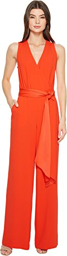 Trina Turk Women's Tiger Lily Jumpsuit Ladybug 14 (Lily Tiger Drapes)