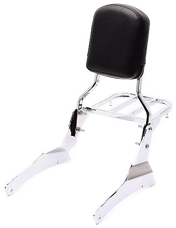 (Bestem CHSU-C50VL-3PCS Chrome Sissy Bar Backrest and Rack for Suzuki Boulevard/C50 M50 Volusia 800-3 Piece)