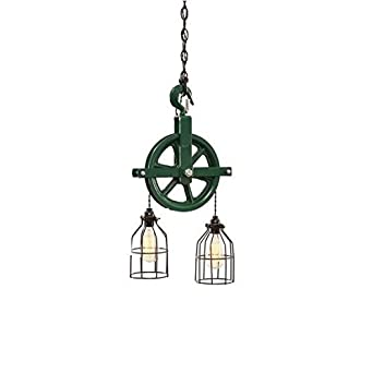 West Ninth Vintage Iron Barn Pulley Light Green