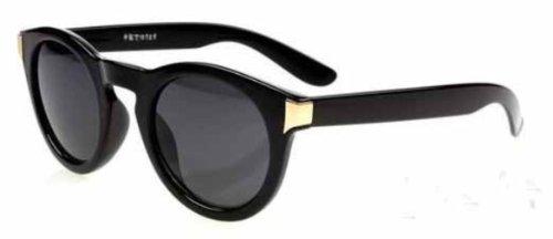 à Noir look Lunettes protection noir 4sold années rétro avec geek gold rouge 80 mixtes gangam verres pour transparents de soleil UV400 qfqx4waOX